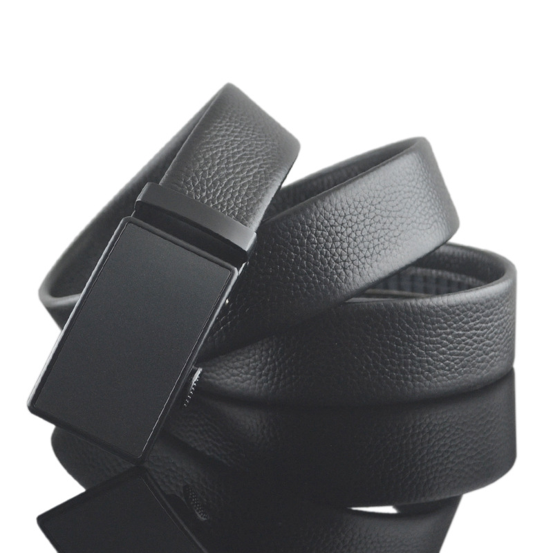 Pure black   belt   buckle Fashion Designer   Belts   for Men Luxury Leather Men   Belt   Automatic ceinture homme