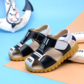 2016 new style boys children leather sandals summer breathable sneakers wrap toe small Baby kids shoes For 21-30 size
