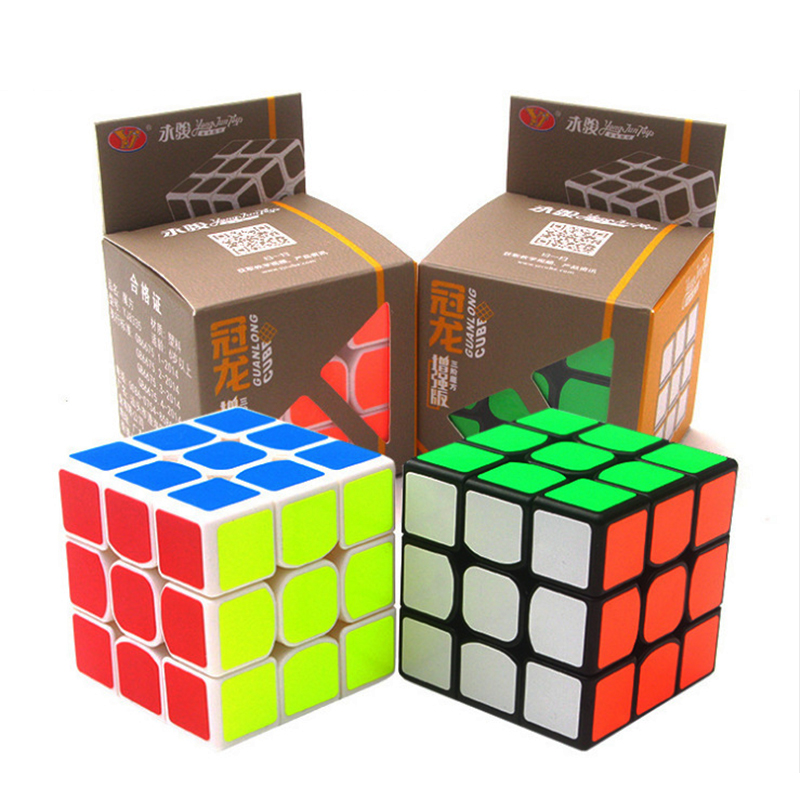 Newest 3x3x3 Six Colour Professional Magic Cube Competition Speed Puzzle Cubes Toys For Children Kids Best Gift