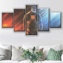 Modern Artwork Wall Home Decorative One Set 5 Pieces Game Half-life Poster Canvas Art Print Modular Pictures Framework Painting