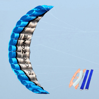 2.5m Parachute Dual Line Stunt Kite Software Beach Nylon Sport Kite Travel Paragliding Kitesurf Outdoor Sport Toy For Adult