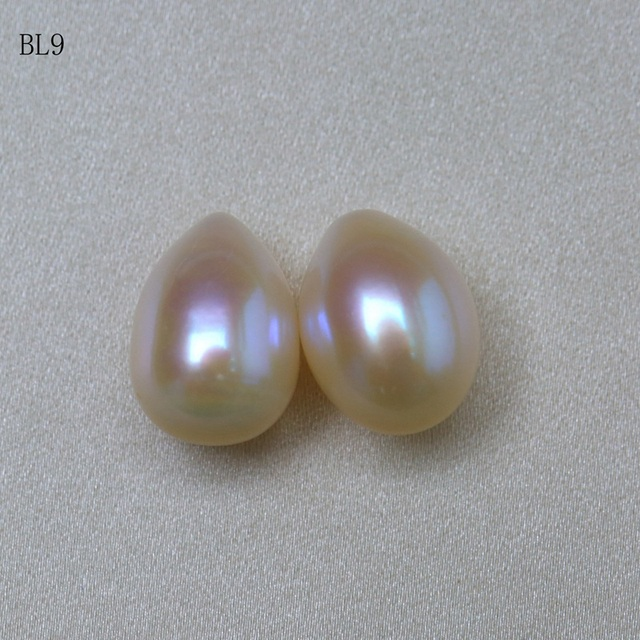 BaroqueOnly Natural white Freshwater Baroque Pearls A PAIR