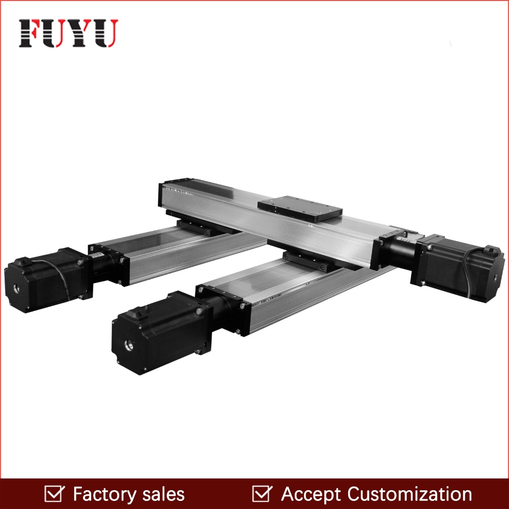 FUYU Linear Stage Actuator Slide Guide Rail Module CNC Ball Screw XY Motion Table Nema 34 Stepper Motor Heavy Load Router