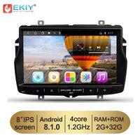 EKIY 8'' Android 8.1 2G 32G 1Din Car Multimedia Player For Lada Vesta 2015 2018 Radio Wifi BT Stereo Audio GPS Navigation No DVD