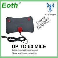 טלוויזיה אנטנה Eoth TVFox TVSurf מקורה HDTV טלוויזיה דיגיטלית Surf פוקס Active אנטנה מגבר כבל רדיוס Antena DVB-T DVB-T2 VHF UHF Antenas (2)