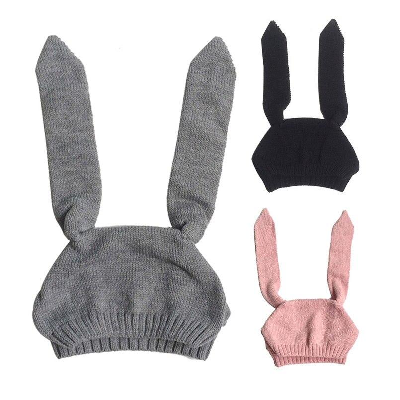 Mother & Kids Hats & Caps Honest Baby Toddler Kids Boy Girl Knitted Crochet Rabbit Ear Beanie Winter Warm Cap Baby Boy Hat Newborn Photography Prop Baby Muts 30