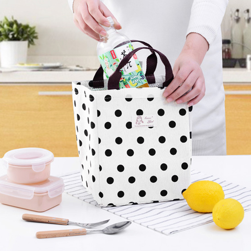 Portable Insulation Bag Feeding Food Milk Bottle Warmer Dot Pattern Large Mummy Breast Milk Thermal Kettle Casual Tote BB5103
