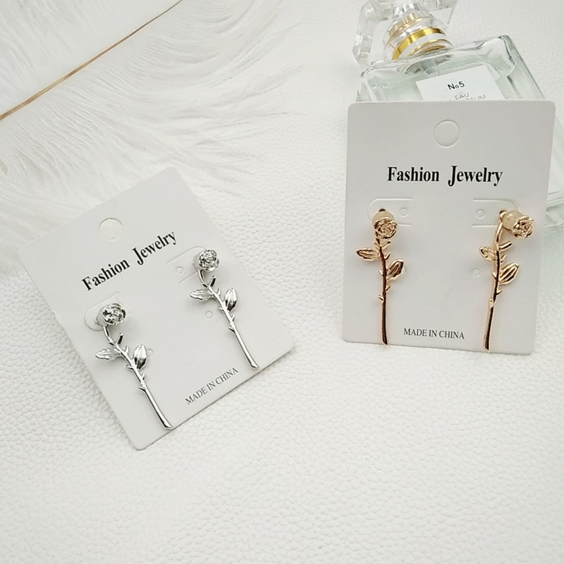 Us 1 98 50 Off Timlee E179 Free Shipping Punk Por Three Dimensional Rose Alloy Drop Earrings Personality Jewelry Whole In From