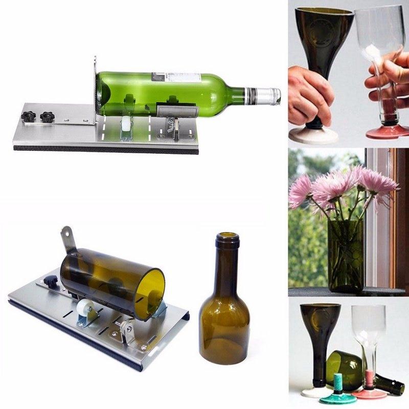 New Glass Bottle Cutter 2-10mm Aluminum Alloy Better Cutting Control Create Glass Sculptures DIY Craft Recycle Glass Cutters