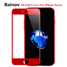 3D full cover screen protector for iphone 8 7 6 6S 9H tempered glass on iPhone 6 6S 7 8 protective glass film
