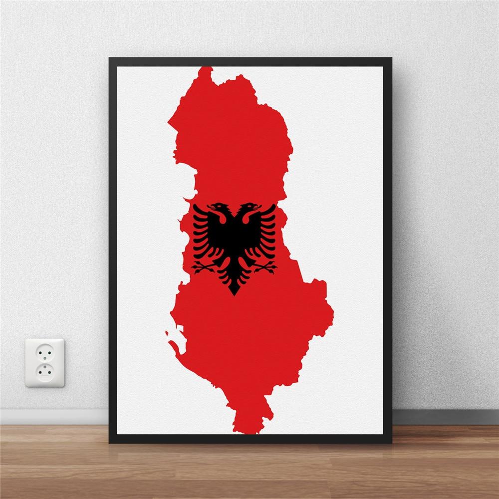 Albanien Flag Moderne Beschichtet poster dekoration Malerei ...