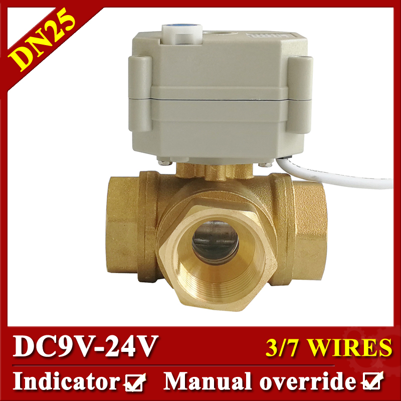 L Type or T Type 3 Way Horizontal 1 Electric Actuated Ball Valve DC9V-24V 3 Wires 7 Wires Motorized Valve For Water Control brand new terebo 1 72 scale fighter model toys russia su 34 su34 flanker combat aircraft kids diecast metal plane model toy