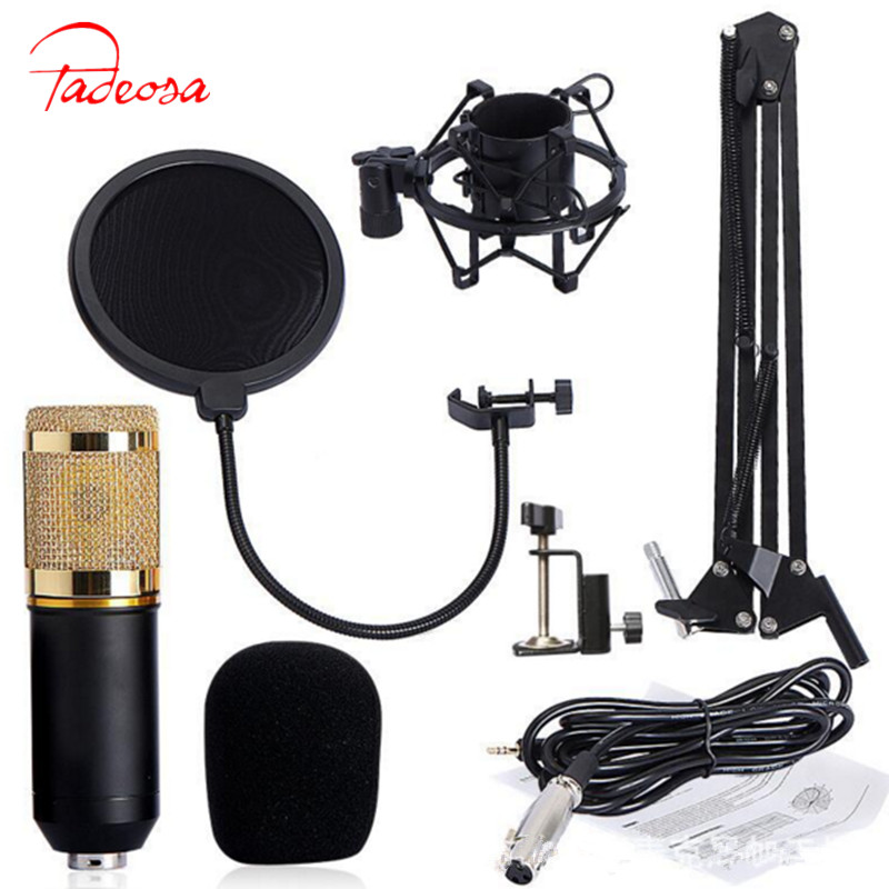 Hot BM 800 Professional 3.5mm Wired Sound Recording Condenser Microphone bm-800 NB-35 Microphone Stand For Computer Studios professional recording sound wired condenser lecture microphone with black mic stand laptop microphone xlr cable recording