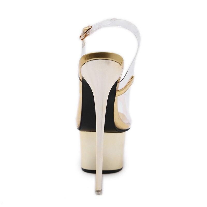 Black Verano Gladiador Plataforma Zapatos Moda Del La Cm 16 gold Partido Sandalias Toe Peep Tacones Mujer Cuña De Club Ultra Mujeres q6Af6Hxw