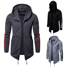2019 mens casual fashion hooded jacket men play cool coat dark black printed assassins sweater