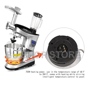 Image 3 - CHEFTRONIC 4 In 1 Multifunction Kitchen Stand Mixer SM 1088, 1000W 7.4QT Precise Heat Stainless Mixing Bowl with Meat Grinder B