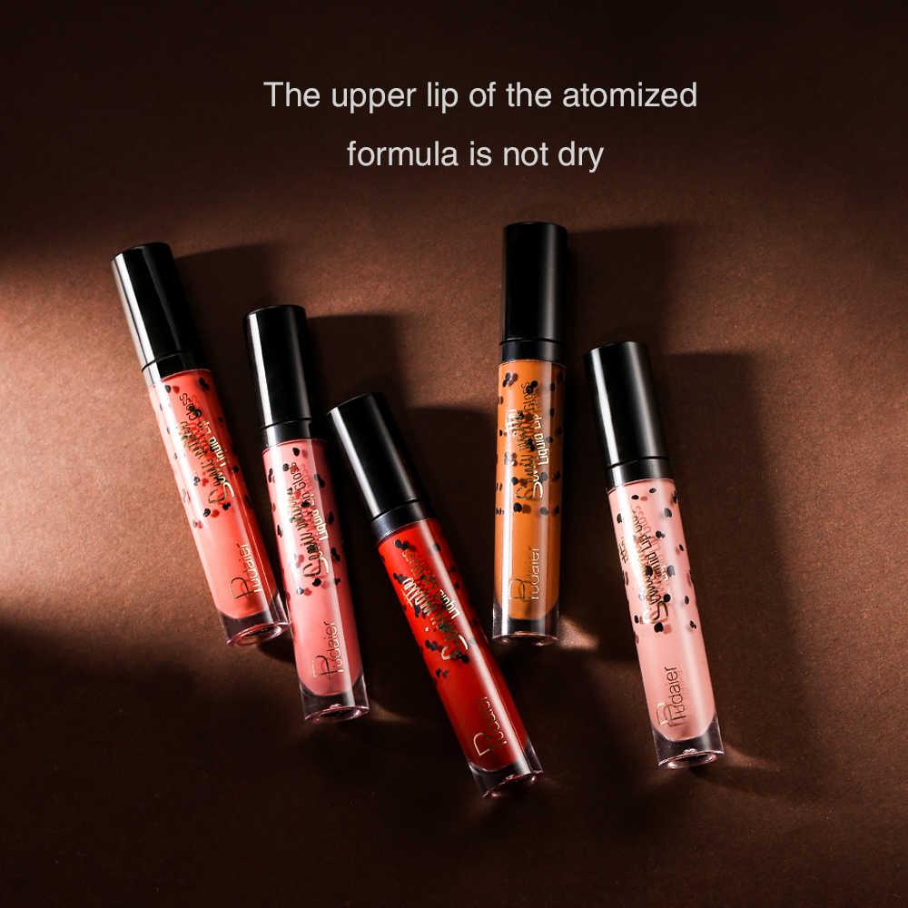 Baru! pudaier Matte Lipstik Cair Gandum Hitam Tahan Air Tahan Lama Warna Bibir Matte Gemuk Lip Gloss Rouge Yang Levre Mat