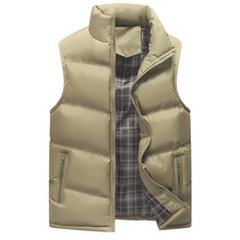 New Brand Winter Mens Vest Slim Fit Warm Sleeveless Jacket Male Plus Size Clothing Man Waistcoat Cotton-Padded Thickening Coats(China)