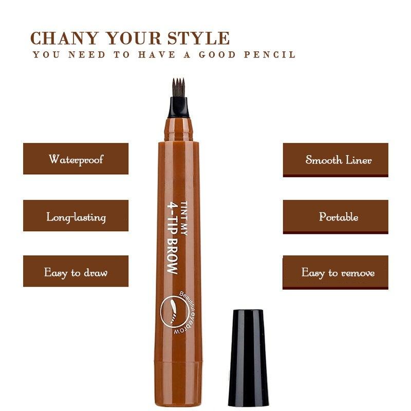 4 Arrow Heads Microblading Liquid Eyebrow Pencil Waterproof Sharp Tips Eye Brow Pencils Eye Liner Beauty Makeup Tools for Women 2