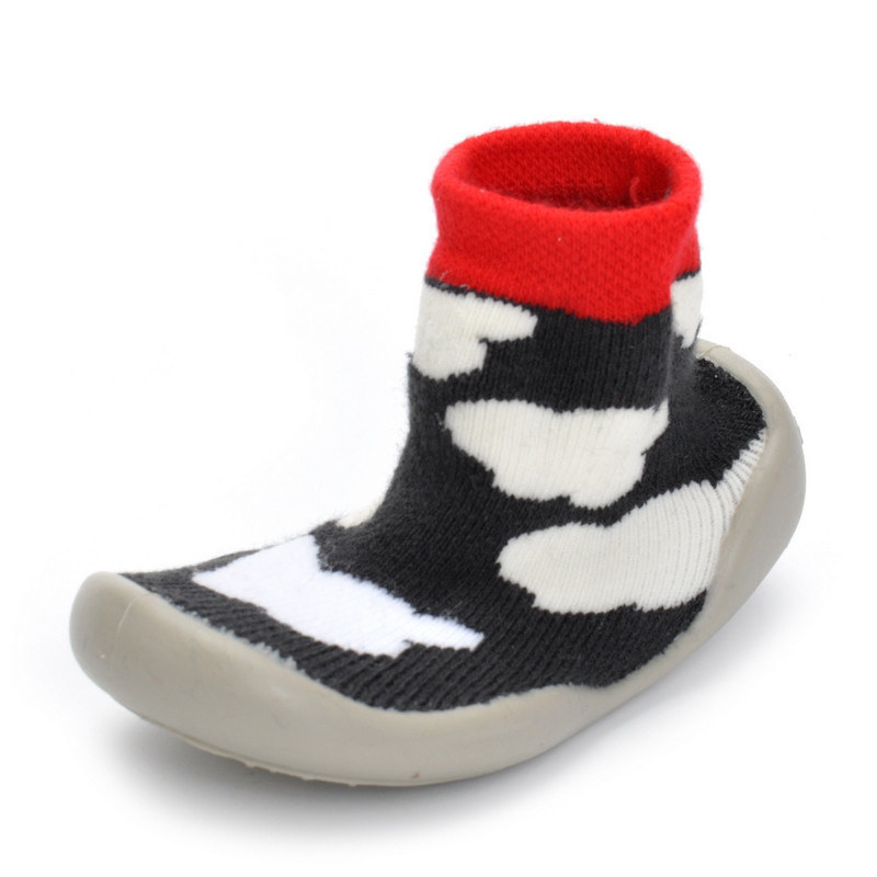 Hot Sale Newborn Anti Slip Baby Socks With Rubber Soles For Children Toddler Shoes First Walkers Cotton Baby Boy Girl Sock Shoe