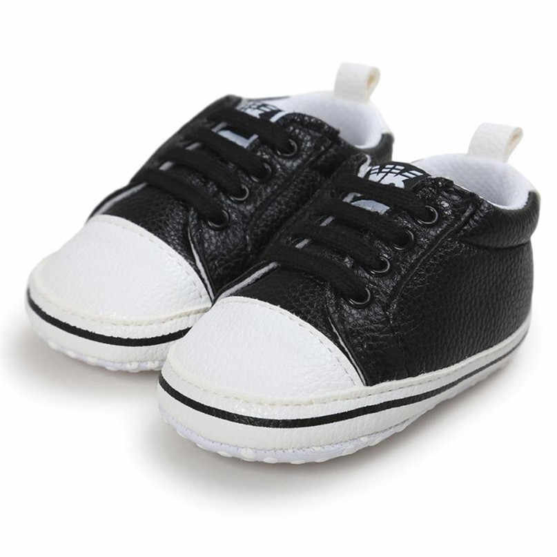 ... 3 Colors First Walkers Lovely Baby Girl Boys Frenulum Letter Shoes  Sneaker Anti-slip Shoes ... 8a8473ad3c8b