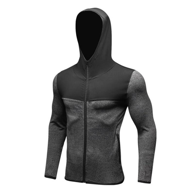 KWAN.Z Men's Thermo Shirt Thermal Underwear For Men Hooded Traning Termo Shirt Zip Quick-dry Men Warm Singlet Underwear Sports