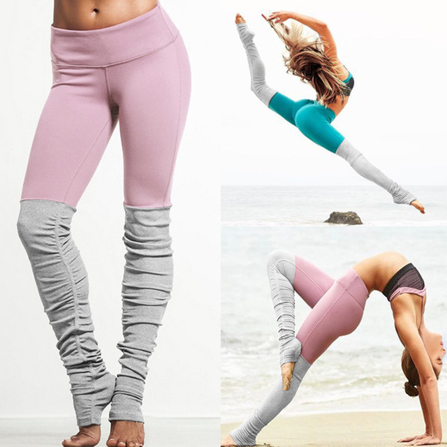 New Yoga Pants Women Sport Leggings Push Up Gym Fitness Running Tights femme  Patchwork High Stretch 7f584286ebe5