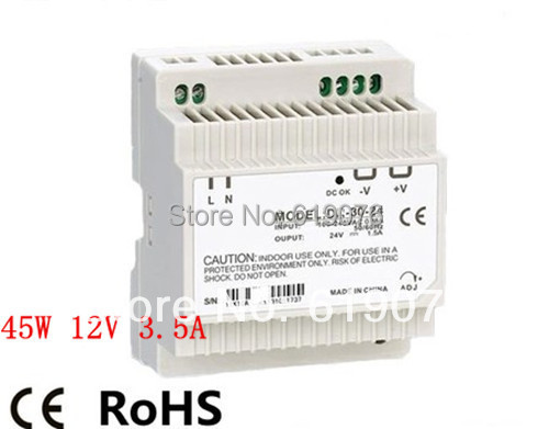Din Rail Single Output Switching power supply 45W 12V 3.5A