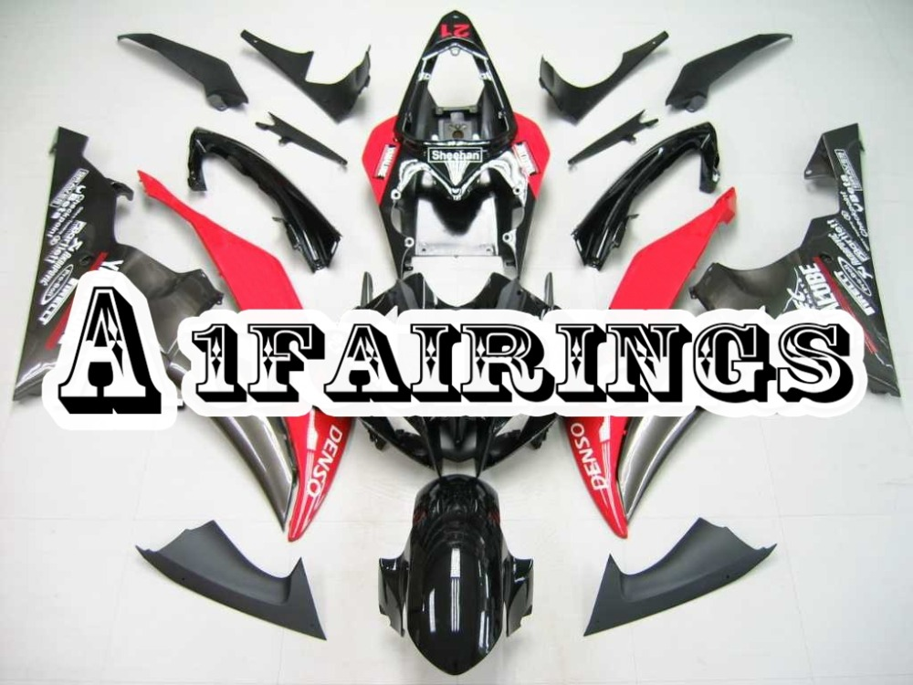 ABS <font><b>Plastic</b></font> Injection Motorbike Fairings <font><b>for</b></font> <font><b>Yamaha</b></font> YZF600 <font><b>R6</b></font> <font><b>2008</b></font> 2016 09 10 11 12 13 14 15 Sportbike Cowling Black Red Hulls image