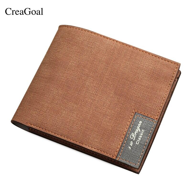 New Wallet Men Leather Wallets Male Purse Money Credit Card Holder Case Coin Pocket Brand Design Money Billfold Maschio Clutch