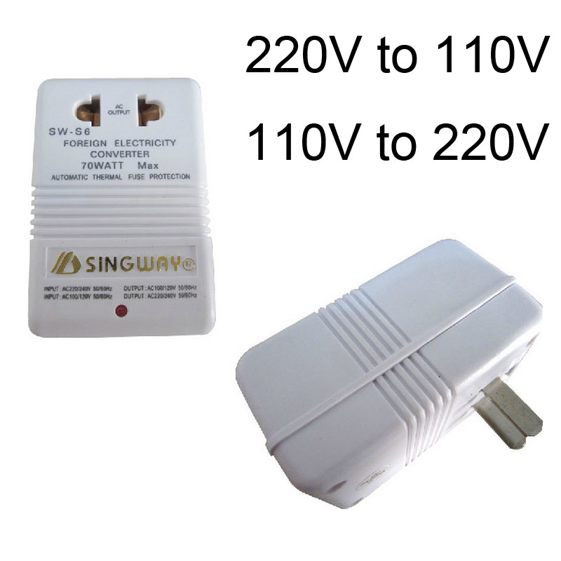 New Converter High Quality White Professional 220V To 110V Step Up/Down Dual Voltage Converter Transformer Travel Adapter Switch lid