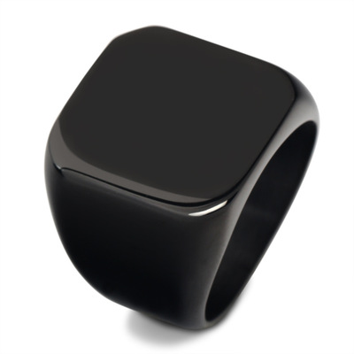 Ringary Three color square fashion ring made of stainless steel for both man and women Beauty and jewelry