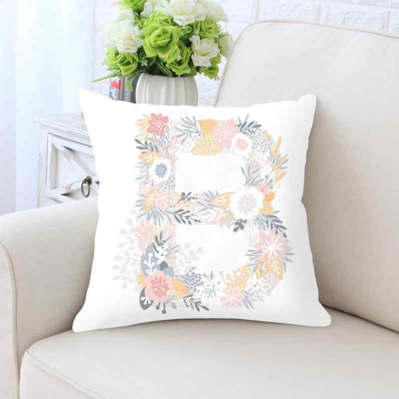 Милая подушка с буквами чехол с буквенным цветком комбинированная одно слово английская детская наволочка для дома детская комната украшение