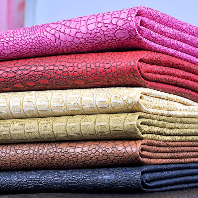 Online Shop 100x130cm Semi Pu Crocodile Leather Bag Fabric f7f30d7908f4