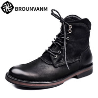 Free Shipping 2017 A Song Martin Boots Shoes Men Boots Retro British Style Boots Autumn Winter