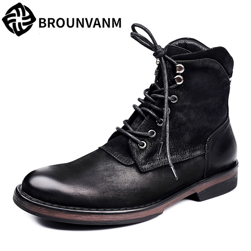 Free shipping 2017 A song Martin boots shoes men boots retro British style boots autumn winter British fall trendboots in europe and america heavy bottomed martin boots british style high top shoes shoes boots sneakers