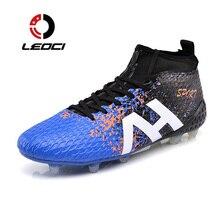 LEOCI New Soccer Shoes FG Superfly Original Football Boots Men Race High Ankle Cleats Sneakers Wholesale chuteira de futebol
