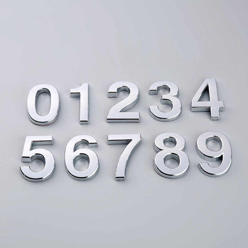 1 Piece 5cm Plated Hotel Room Numbers Signage Doorplate Board Restaurant Self-adhesive Digit Signs