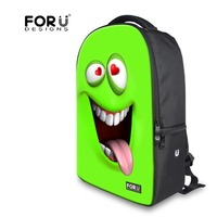 Trendy Funny Emoji Face Teenagers Backpack Bright Green School Backpack Attractive Outdoor Women Girls Travel Backpacks