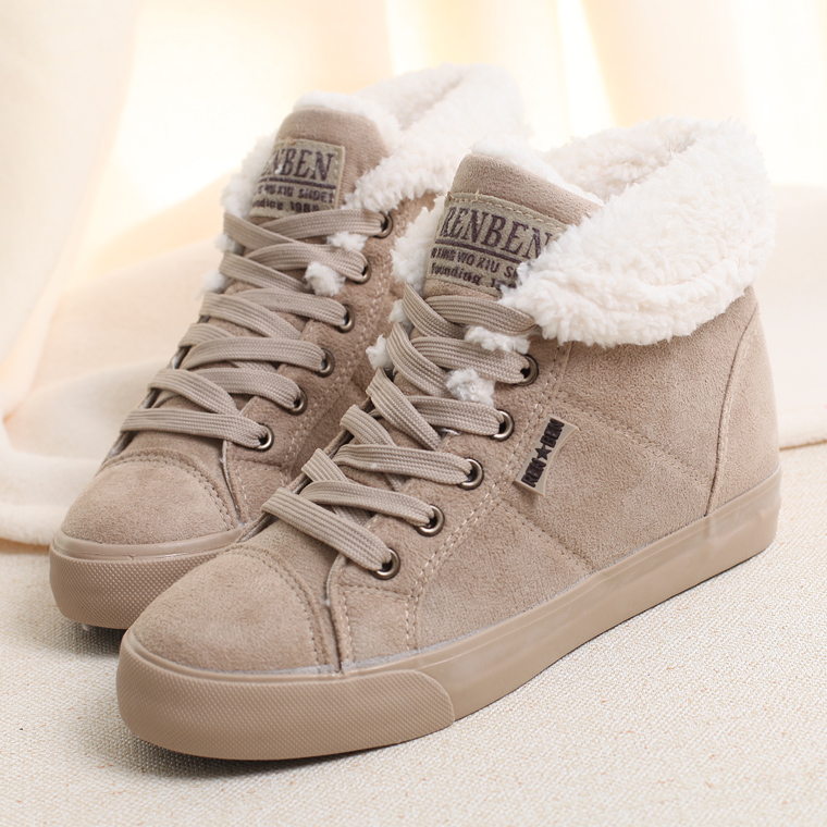 Fur Snow Boots Winter Warm Female Cotton-padded Shoes Women Autumn 2017 Australia Plush Fashion Short Ankle Boot Boats Mujer Hot taya t b 12032 neck coral