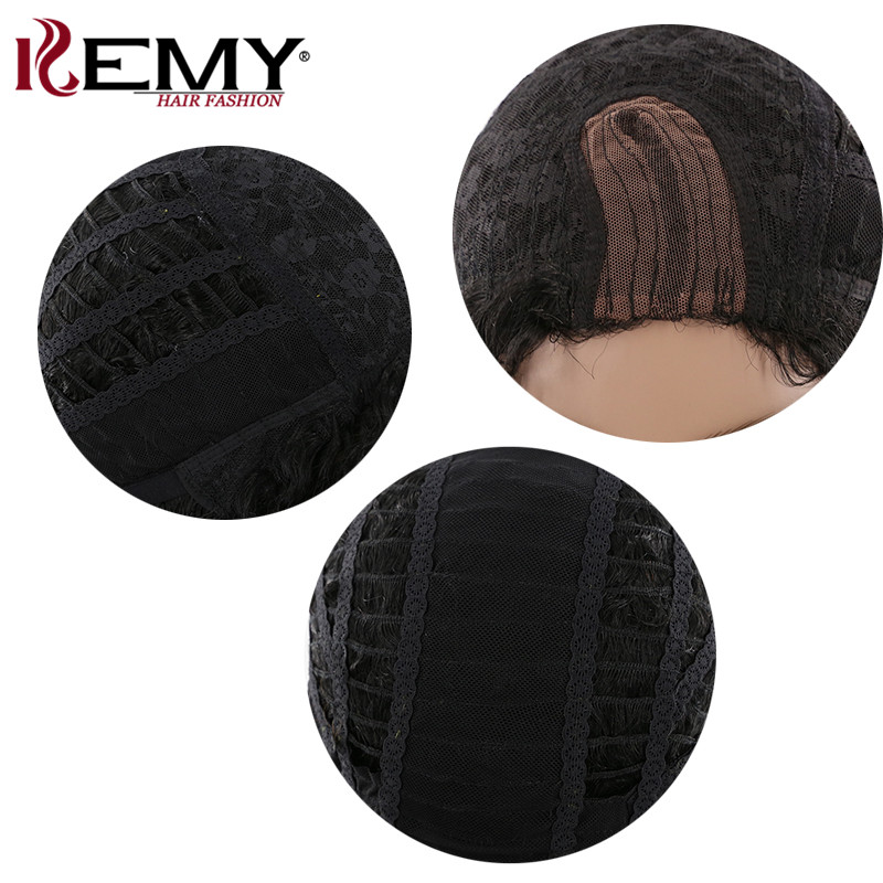 Afro Kinky Curly Wigs KEMY HAIR Brazilian Remy Long Human Hair Wigs For Black Women Pre Plucked Hairline L Part Lace Wig
