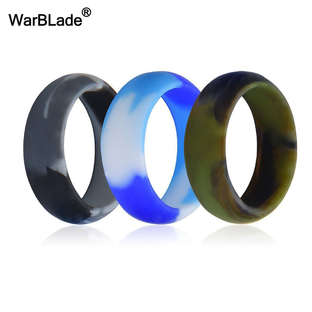 WBL 3pc/set Men Women Silicone Ring Food Grade FDA Silicone Finger Ring Hypoallergenic Flexible Sports Antibacterial Rubber Ring 2