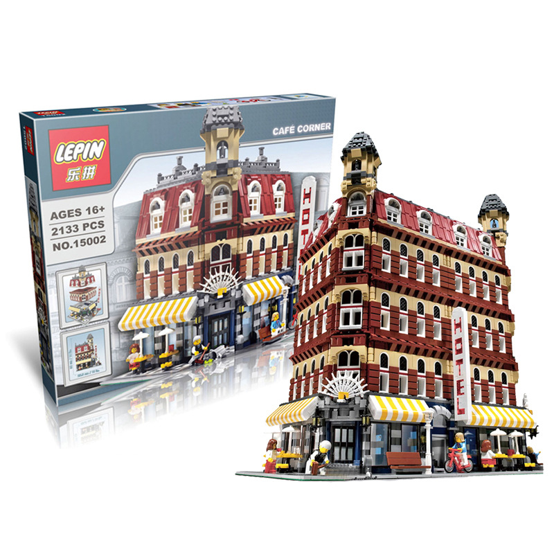 Love.thank you Creator series the Cafe Corner  LEPIN 15002 Model Building Blocks Classic Toys Gift Compatible With 10182 lepin 22001 pirate ship imperial warships model building block briks toys gift 1717pcs compatible legoed 10210