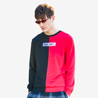 Hip Hop Patchwork Tshirt Men Streetwear Funny Man Long Sleeve Aesthetic Tee Shirt Punk Rock Rave Fashion Mens Clothing T6009