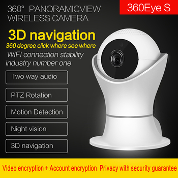 WIFI IP Camera 3D navigation Internet network HD video Wireless Home Security Surveillance 360 fish Eye CCTV Baby Monitor 2.0MP 1