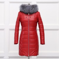 Genuine Leather Natural Fox Fur Collar Material Women Coat Lining Polyester Filler Natural Camel Hair Thick
