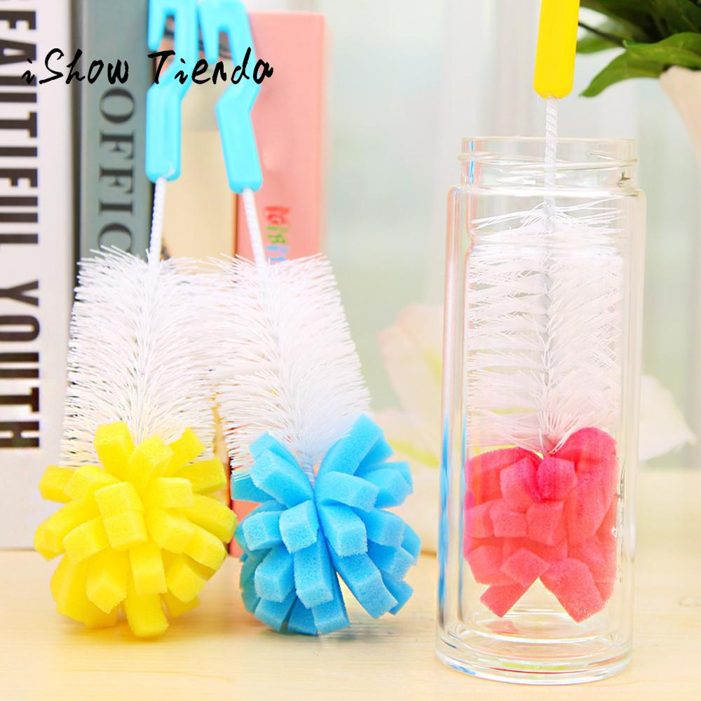 1 PC Kitchen Cleaning Tool Sponge Brush For Wineglass Bottle Coffe Tea Glass Cup