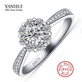 Big Promotion 100% Real 925 Silver Wedding Rings for Women Fashion Flower CZ Diamond Engagement Ring New Jewelry Wholesale YR000