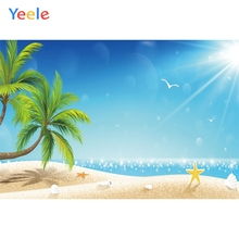 Yeele Seaside Photography Backdrops Scenery Beach Palm Tree Children Decoration Photographic Backgrounds Photo Studio Photobooth