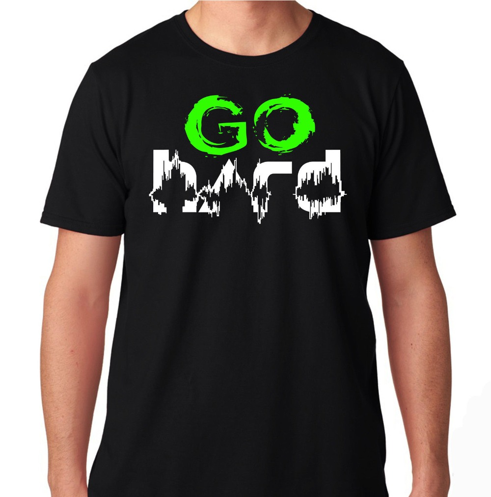 Go Hard Edm Rave Dance Music House Electro Music Club Party Hard 2019 New Men Fashion Men T Shirts Round Neck Cotton Tee Shirt image